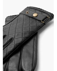 Mango | Black Tab Leather Gloves for Men | Lyst