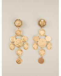 Dolce & Gabbana | Metallic Roman Coin Earrings | Lyst