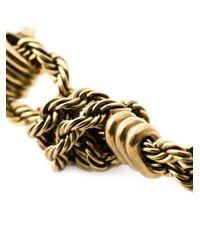Lanvin | Metallic Braided Earrings | Lyst
