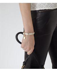 Reiss - Natural Hazel Stud Studded Padlock Detail Bracelet - Lyst