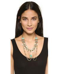 Adia Kibur | Metallic Victoria Necklace - Gold/turquoise | Lyst