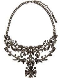Givenchy | Black Vine Swarovski Crystal Statement Necklace | Lyst