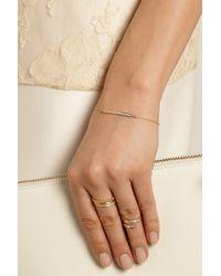 Halleh - Metallic 18-Karat Gold Diamond Bar Bracelet - Lyst