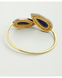 Amrapali - Blue Sapphire And Diamond Teardrop Bangle - Lyst