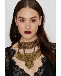 Nasty Gal | Metallic Goldbarr Casablanca Collar Necklace | Lyst