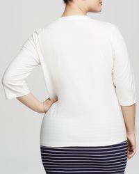 Marina Rinaldi - White Plus Valdese Scoop Neck Tee - Lyst