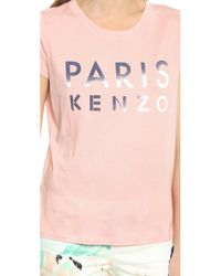 KENZO - Paris Tee - Flamingo Pink - Lyst