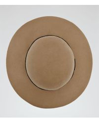 Reiss | Brown Andrea Wool Floppy Hat | Lyst