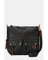 Fossil | Black 'morgan' Shoulder Bag | Lyst