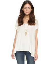 Free People | Kristin Tee - White | Lyst