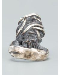 Alice Waese | Metallic Cage Ring for Men | Lyst