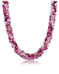 Antica Murrina | Purple Rubik Murano Glass Drops Necklace | Lyst