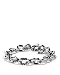David Yurman - Metallic Round And Oval Link Bracelet - Lyst