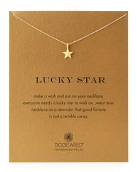 Dogeared - Metallic Gold-Dipped Lucky Star Necklace - Lyst