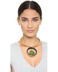 Marni - Green Metal Necklace - Emerald - Lyst