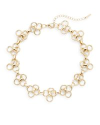 Saks Fifth Avenue | Metallic Linked Clover Collar Necklace/gold | Lyst