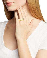 Diane von Furstenberg | Metallic Geo Ring | Lyst