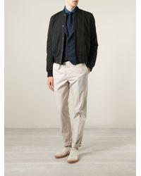 Brunello Cucinelli - Blue Shawl Lapel Waistcoat for Men - Lyst