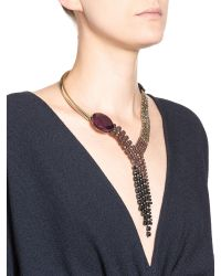 Marni - Black Necklace In Varnished Strass And Resin - Lyst
