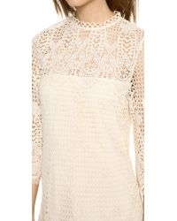Dolce Vita | Natural Mikella Crochet Mini Dress - Nautral | Lyst