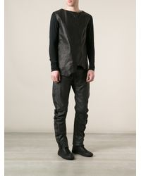 Lost & Found - Black Gathered Trouser for Men - Lyst