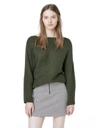 Mango | Natural Cotton Wool-blend Ribbed Sweater | Lyst