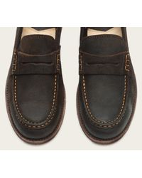 Frye - Brown Greg Leather Penny for Men - Lyst