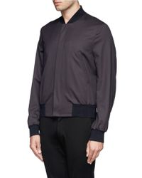 Paul Smith - Purple Twill Bomber Jacket for Men - Lyst