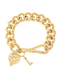 Lauren by Ralph Lauren | Metallic Chain-link Charm Bracelet | Lyst