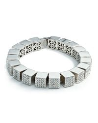 Eddie Borgo - Metallic Pave Cube Bracelet - Lyst
