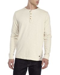 Jeremiah | Natural Camper Slub Henley for Men | Lyst