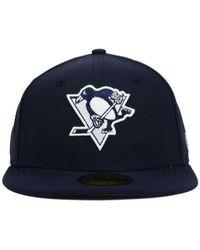 KTZ - Blue Pittsburgh Penguins C-dub 59fifty Cap for Men - Lyst