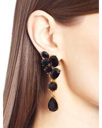 Oscar de la Renta   Metallic Swarovski Crystal Asymmetrical Earrings   Lyst