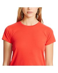 Polo Ralph Lauren | Red Cotton Jersey Crewneck Tee | Lyst