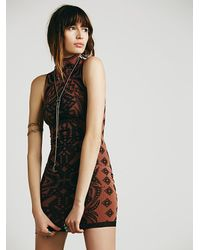 Free People | Multicolor Jacquard Bodycon | Lyst