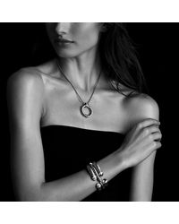 David Yurman - Green Waverly Bracelet With Diamonds, 5mm - Lyst