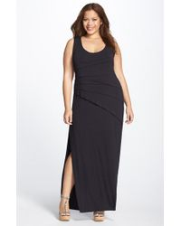 Lyssé | Black Shutter Pleat Maxi Dress | Lyst