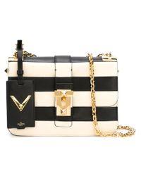 Valentino - Black B-Rockstud Striped Shoulder Bag - Lyst