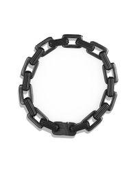 David Yurman - Royal Cord Link Bracelet with Black Diamonds for Men - Lyst