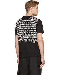 Juun.J - Black And Silver Metallic Rob Ryan Edition T_shirt - Lyst