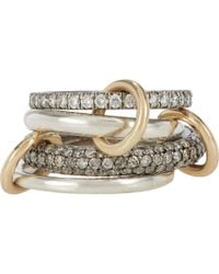 Spinelli Kilcollin | Metallic White Grey Diamond Vega Sg Pavé Ring | Lyst