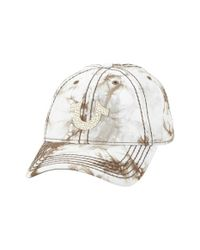 True Religion - Natural Marble Dye Baseball Cap for Men - Lyst