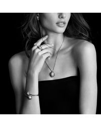 David Yurman   Metallic Bracelet With Diamonds In Gold   Lyst