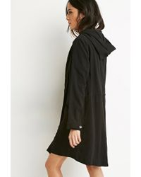 Forever 21 - Black Buttoned Wrap Cocoon Jacket - Lyst