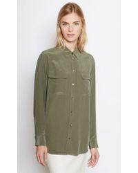 Equipment | Green Signature Silk Shirt | Lyst