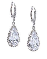 Judith Jack - Metallic Sterling Silver Cubic Zirconia Teardrop Earrings - Lyst