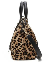 Banana Republic - Natural Leopard Haircalf Satchel - Lyst