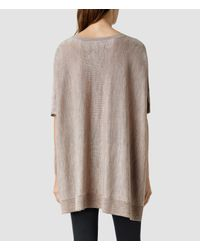 AllSaints | Natural Arple Cape | Lyst