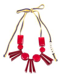 Marni - Pink Resin Bead Necklace - Lyst
