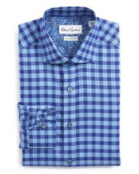 Robert Graham | Blue 'sanpietro' Tailored Fit Check Dress Shirt for Men | Lyst